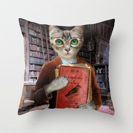Dr. Felis Catus Throw Pillow