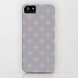 Ornamental Pattern with Grey and Pink Colourway iPhone Case