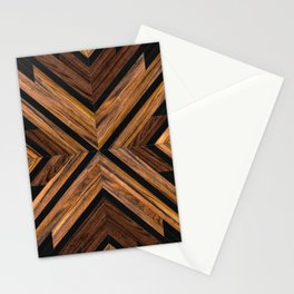 Urban Tribal Pattern 3 - Wood Stationery Cards