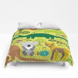 Animals Australia snake, turtle, crocodile, alliagtor, kangaroo, dingo Comforters