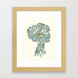 {No title} Yellow Bird Framed Art Print