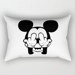 mickey mostrando o dedo Rectangular Pillow