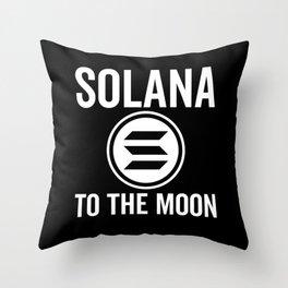 Solana To The Moon Throw Pillow