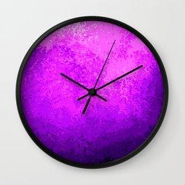 Purple Light Cave Wall Clock