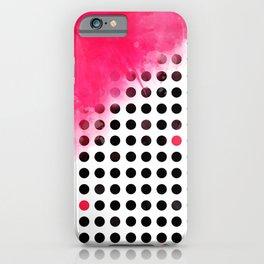 Bold Pink Polka Dots iPhone Case