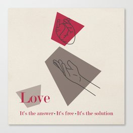 Love: Classic Canvas Print