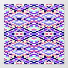 Smart Diagonals Coral Canvas Print