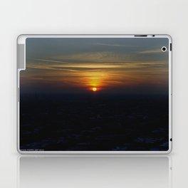 Chicago Sunset, February 6, 2015 (Chicago Sunrise/Sunset Collection) Laptop & iPad Skin
