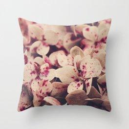 hydrangea - pink freckles Throw Pillow