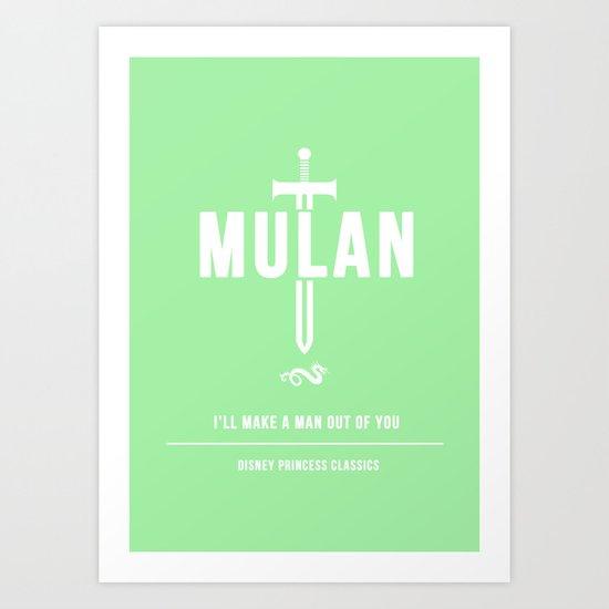 Disney Princesses: Mulan Minimalist Art Print