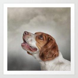 Drawing Dog Beagle Art Print