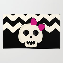 Pink Skeleton Chevron Rug