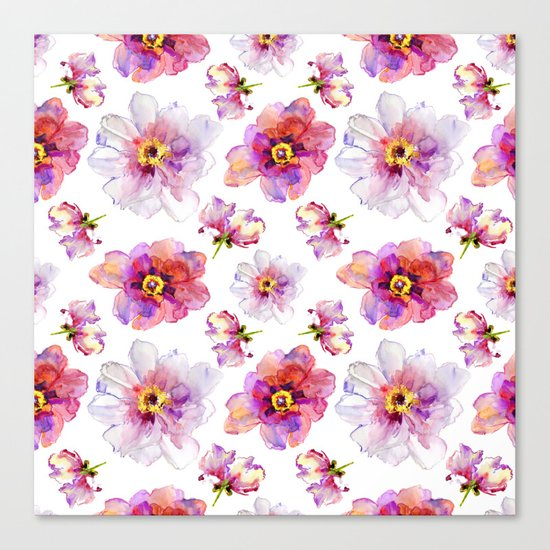 Delicate Floral Pattern 03 Canvas Print