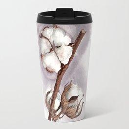 Cotton flower gray background Travel Mug