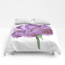 Purple Rose Watercolor Comforters