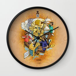 The Fantastic Craft Coffee Contraption Suite - The Fantastic Craft Coffee Contraption Wall Clock