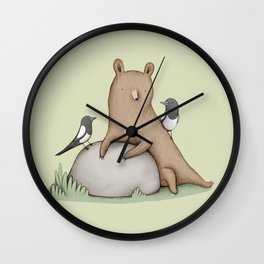 Bear & Birds Wall Clock