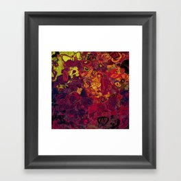 Composition #84 (shades of purple) Framed Art Print