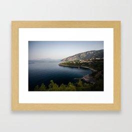 Maratea - Acquafredda beach at dawn Framed Art Print