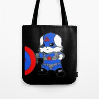 avenger Tote Bags featuring Avenger Dog by Rocky Moose