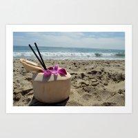 Coconut colada  Art Print