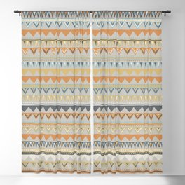 Colorful Hand Drawn Ethnic Pattern Blackout Curtain