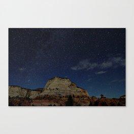 Zion Night Sky Canvas Print