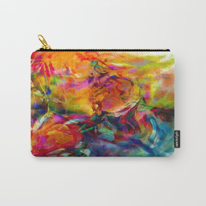 abstract about wine, flowers, party Carry-All Pouch