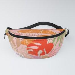 Tropical Foliage Pattern 2 - Orange & pink Boho Fanny Pack