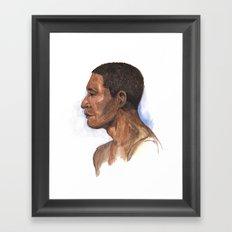 Portrait study 2 Framed Art Print