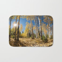 Crested Butte Colorado Fall Colors Panorama - 3 by OLena Art Bath Mat