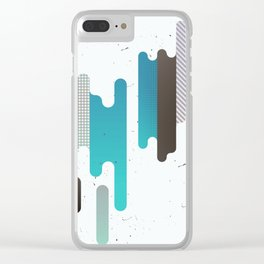 Abstract Texure Clear iPhone Case