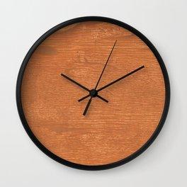 Brown orange Wall Clock