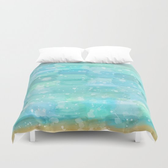 50 shades of Turquoise Duvet Cover