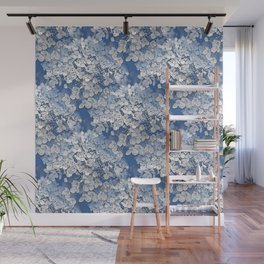 Hydrangea clouds Wall Mural