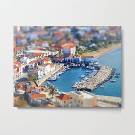 Miniature Port Metal Print