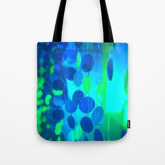 UNDERWATER GLAM CIRCLES #Blue #2 Tote Bag