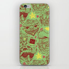Have a Hipster Christmas! iPhone Skin