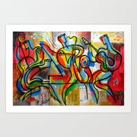 Soul Jazz Music Art Print