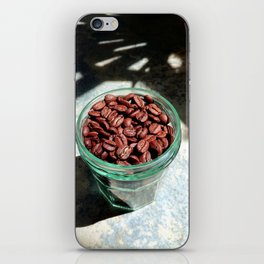 Coffee Beans in Manson Jar iPhone Skin