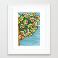 plant Framed Art Prints featuring plant by Onde di Tela by Antonella Franco