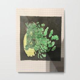 Uil met maanlicht Metal Print