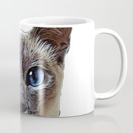 Siamese Cat darkened incinerated outer layer elongated eyes Coffee Mug