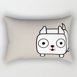 Pitbull Loaf - White Pit Bull with Cropped Ears Rectangular Pillow