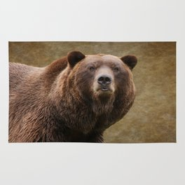 Brown Bear Stare Rug