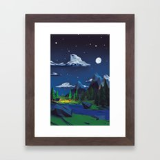 A simple night Framed Art Print