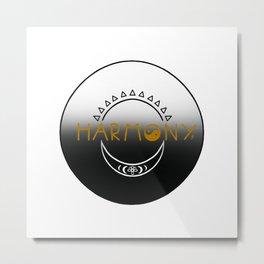 Sun and Moon Harmony Emblem Metal Print