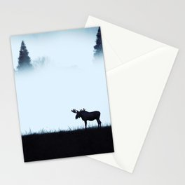 The moose - minimalist landscape Stationery Cards