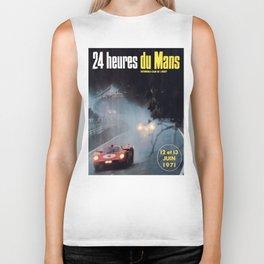 Le Mans poster, 1971, Le Mans t shirt, vintage car poster Biker Tank