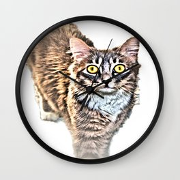Cat With Amazing Eyes, Watching You Wall Clock